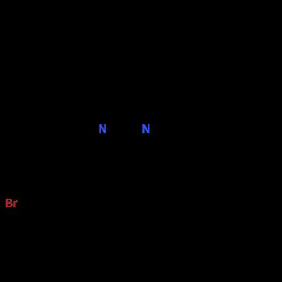 Molecular structure for 4-(4-bromophenyl)-2-phenyl-6-(4-phenylphenyl)pyrimidine
