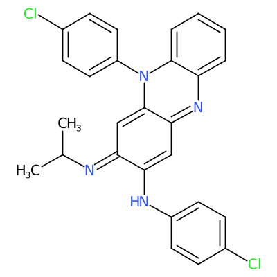 Molecular structure for Clofazimine